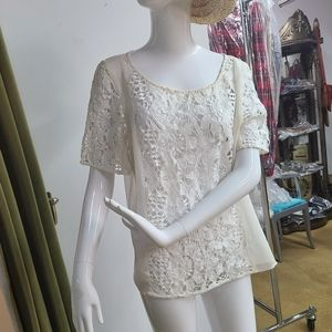 *Extra 50%OFF American Eagle Lace Floral Top